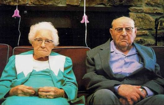 Image result for elderly couple mad